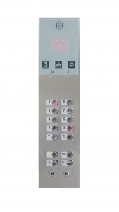 Botoeira de elevador da linha Inox Glass